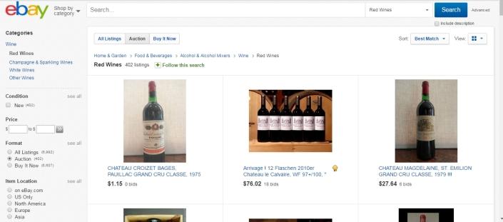 ebay wines