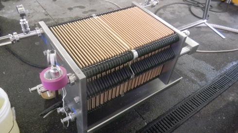 Filtru cu placi folosit pentru limpezirea vinurilor